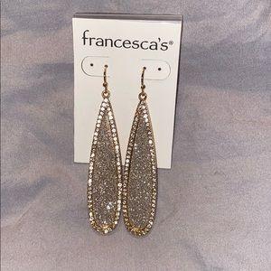 Francesca's Sparkle Dangle Earrings